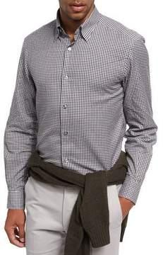 Ermenegildo Zegna Gingham Check Cotton Shirt