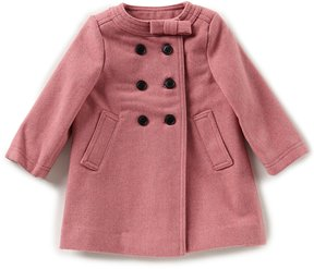 Edgehill Collection Baby Girls 12-24 Months Bow Neck Coat