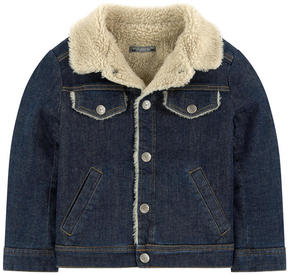 Bonpoint Jean jacket with a faux fur lining