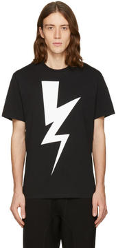 Neil Barrett Black One Thunder T-Shirt