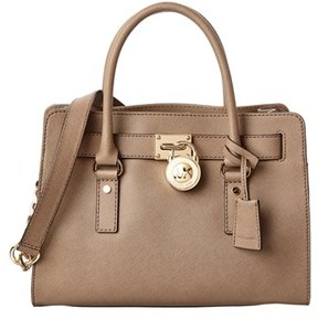 Michael Kors Hamilton East/west Leather Satchel. - TAUPE - STYLE