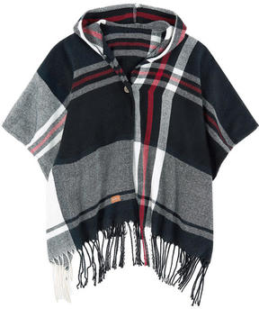 Pepe Jeans Checked poncho