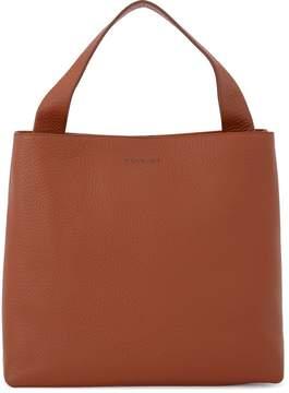 Orciani Jackie Tobacco Tumbled Leather Shoulder Bag