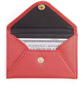 Royce Leather Royce Red Genuine Leather Envelope Card Case