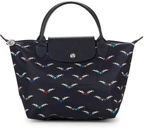 Longchamp Women's Le Pliage Chevaux Ailes Nylon Small Top Handle Bag - BLUE - STYLE