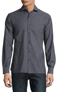 Black & Brown Black Brown Medalion Cotton Button-Down Shirt