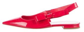 Christian Dior Patent Leather Slingback Flats