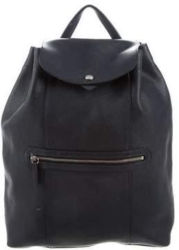 Longchamp Leather Drawstring Backpack