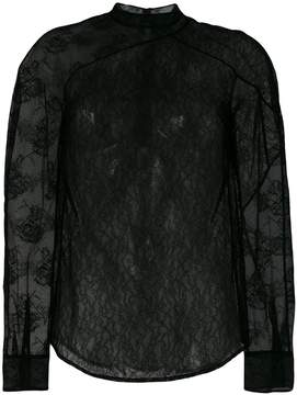 Christopher Kane patchwork lace shirt