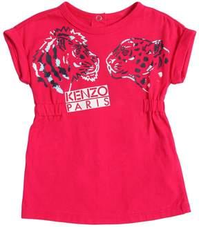 Kenzo Lion & Leopard Print Jersey Dress