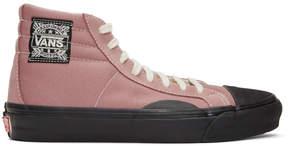 Vans Pink and Black OG LX High-Top Sneakers