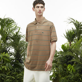 Lacoste Men's Fashion Show Petit Piqu Oversized Striped Polo Shirt