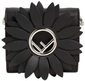 Fendi Micro Kan I Flower Leather Shoulder Bag