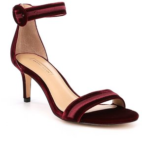 Antonio Melani Suzannah Ankle Strap Velvet Dress Sandals