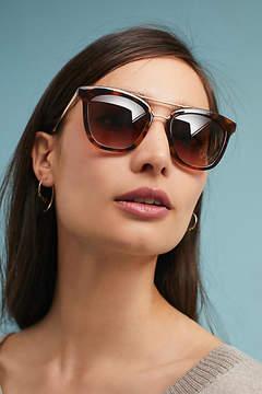 Anthropologie Clarise Tortoise Aviator Sunglasses