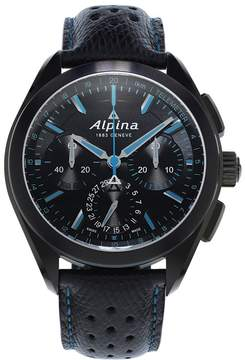 Alpina Alpiner 4 Manufacture Flyback Chronograph Automatic Black Dial Men's Watch