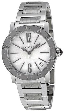Bvlgari Automatic Mother of Pearl Dial Stainless Steel Ladies Watch BBL33WSSD