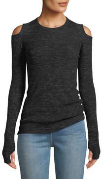 Current/Elliott The Melange Cold-Shoulder Sweater