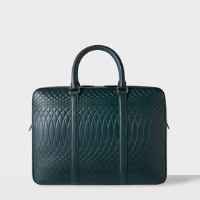 Paul Smith No.9 - Dark Green Leather Slim Business Folio