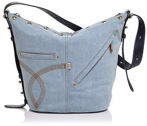 Marc Jacobs The Sling Denim Hobo - DENIM/GOLD - STYLE