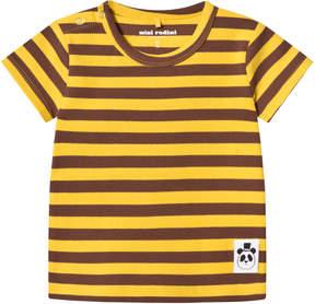 Mini Rodini Yellow Stripe Rib Tee