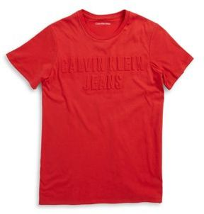 Calvin Klein Jeans Boys Raised Logo Tee