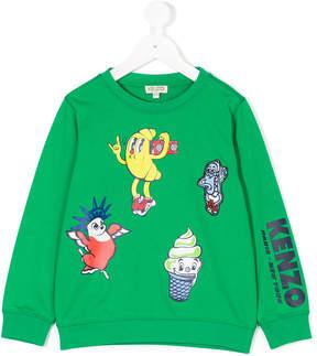Kenzo multi-printed sweatshirt