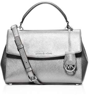 Michael Kors MICHAEL Womens Ava Leather Convertible Satchel Handbag - SILVERS - STYLE