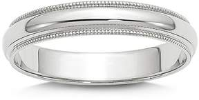 Bloomingdale's Men's 4mm Half Round Milgrain Band 14K White Gold - 100% Exclusive