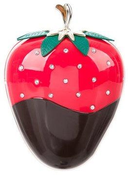 Kate Spade Creme de la Creme Dipped Strawberry Clutch - RED - STYLE