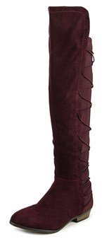 Material Girl Cayln Pointed Toe Canvas Over The Knee Boot.