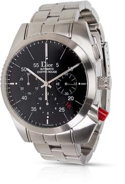 Christian Dior Chiffre Rouge Chronograph Automatic Black Dial Men's Watch