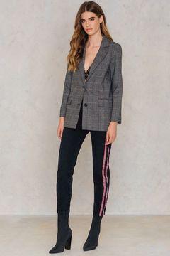 NA-KD Highwaist Double Stripe Jeans