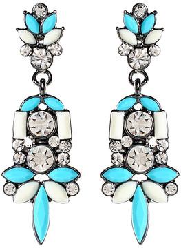 Amrita Singh Austrian Crystal & Teal Holi Drop Earrings