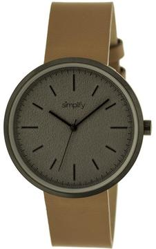 Simplify The 3000 Collection SIM3007 Unisex Watch with Leather Strap