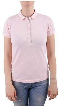 Sun 68 Women's Pink Cotton Polo Shirt.