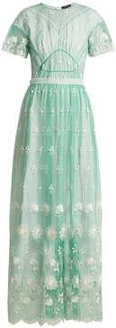 Burberry Round-neck embroidered-tulle dress