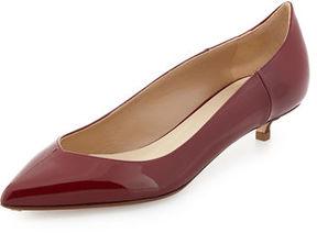Francesco Russo Patent Leather Low-Heel Pump