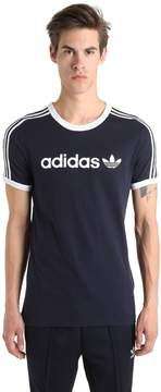 adidas Linear Two Tone Cotton Jersey T-Shi