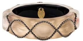 Alexis Bittar Lucite Carved Hinge Bangle