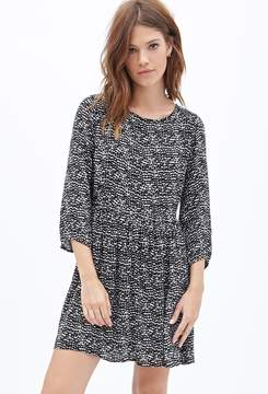 Forever 21 Abstract Printed Babydoll Dress