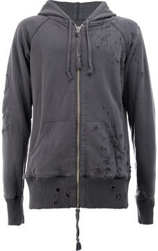 Greg Lauren distressed zip hoodie