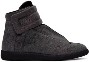 Maison Margiela Grey and Black Future High-Top Sneakers