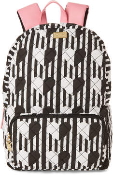 Betsey Johnson White Danny Quilted Backpack