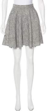 Apiece Apart Tweed Flared Mini Skirt