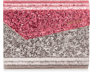 Jimmy Choo CANDY Flamingo and Ballet Pink Acrylic Clutch Bag
