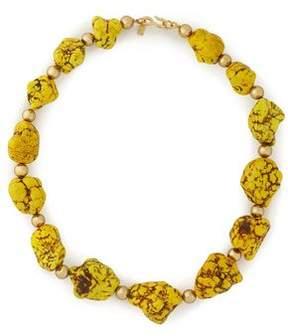 Kenneth Jay Lane Gold-Tone Beaded Stone Necklace