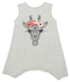 Imoga Toddler's, Little Girl's& Girl's Giraffe Graphic Tunic