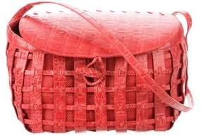 Nancy Gonzalez Crocodile-Trimmed Toggle Crossbody