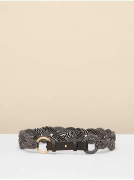 Diane von Furstenberg | Braided Belt | Xs | Black/ white